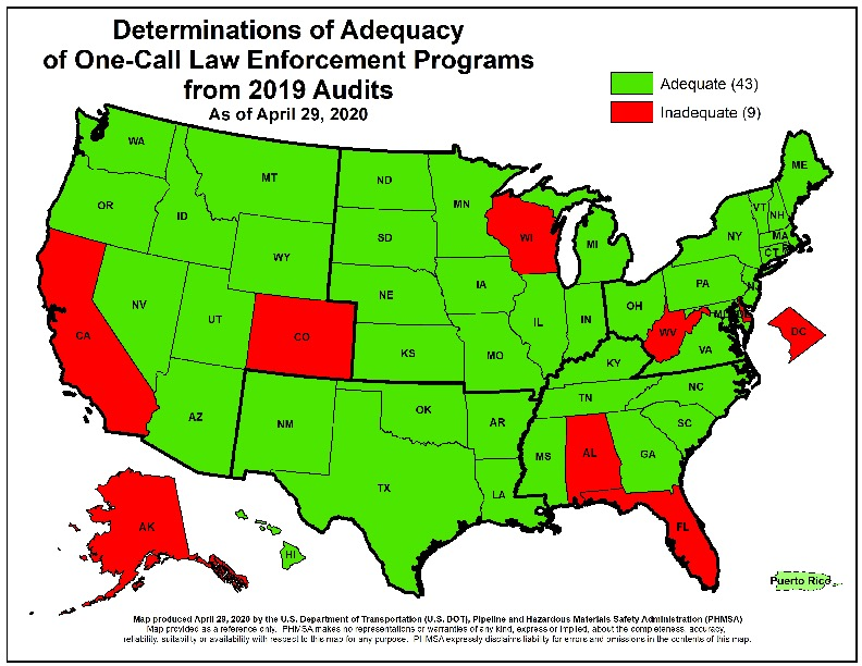 Determinations of Adequacy Map