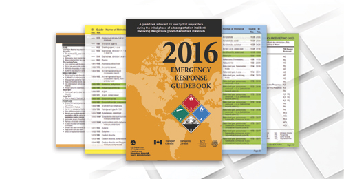 2016 Emergency Response Guidebook (ERG) collage