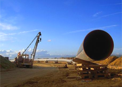 Visual of a Pipeline Construction Site