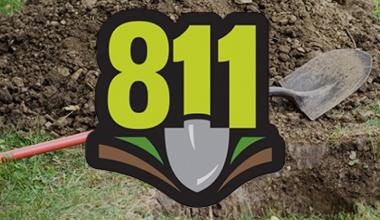 811 call before you dig logo.